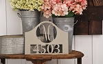Monogrammed Address Sign