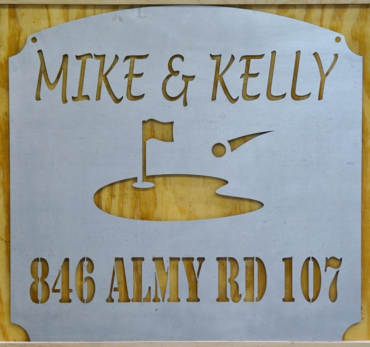 Custom Name and Address Sign